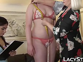 Old vs young lesbian oral embrace