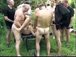 german outdoor groupsex orgy