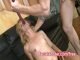 Two Dicks Destroy A Cute Teen Throat