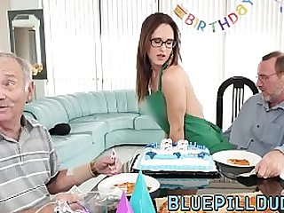 Cute young slut smashed by old geezer