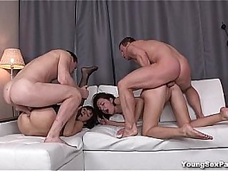 Young Sex Parties - Have some two-on-two hardcore fun