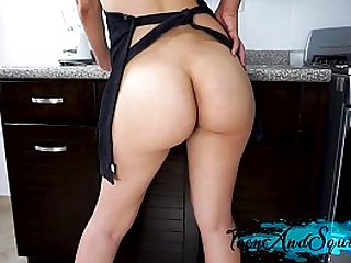 KITCHEN FUCK CUMSHOT ON FACE TEEN AND SQUIRT
