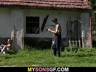 Dad fucks a young pussy