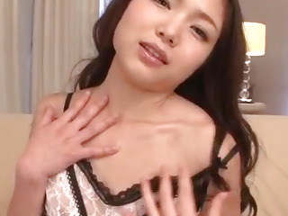 Megumi Shino blows cock while getting fucked with toys