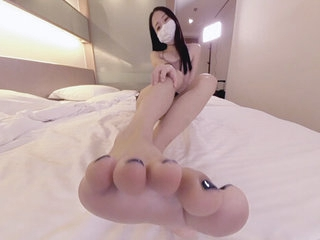 Cute Asian Wants to Feed You Her Feet 1 - Ainovdo